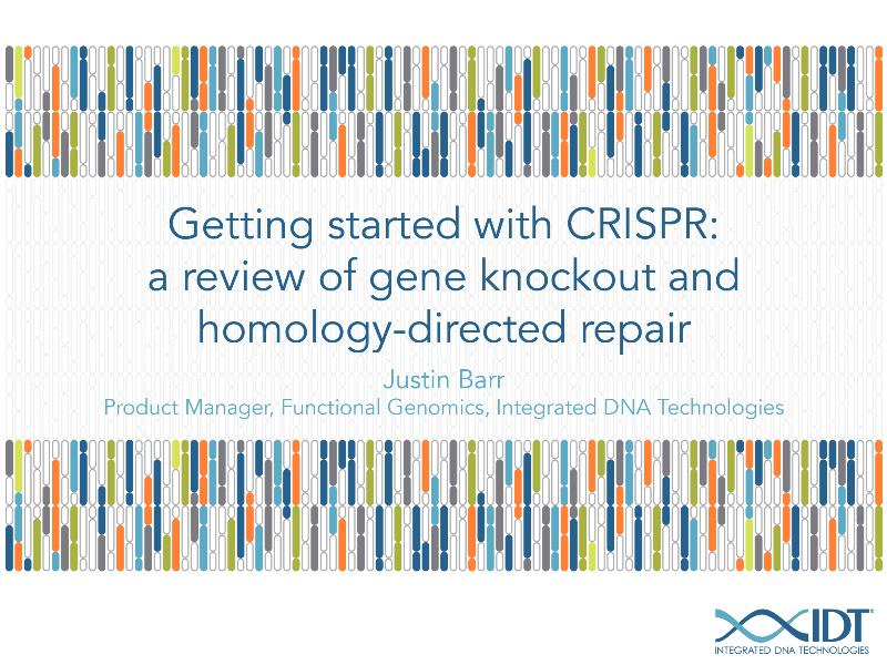 GettingstartedwithCRISPRAreviewofgeneknockoutandhomology-directedrepair